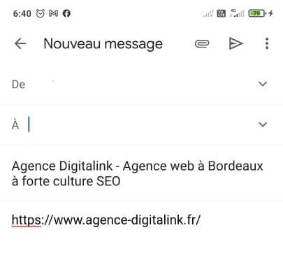 Balise Title dans un mail