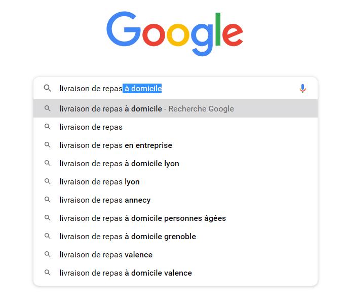 Trouver des mots-clés de longue traîne avec l'autosuggestion de Google
